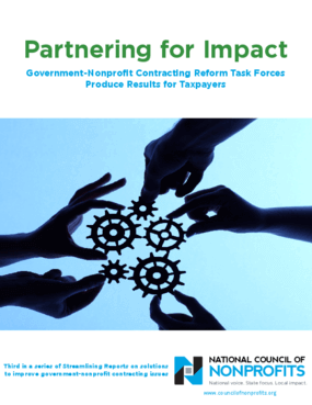 Partnering for Impact: Government-Nonprofit Contracting Reform Task Forces Produce Results for Taxpayers