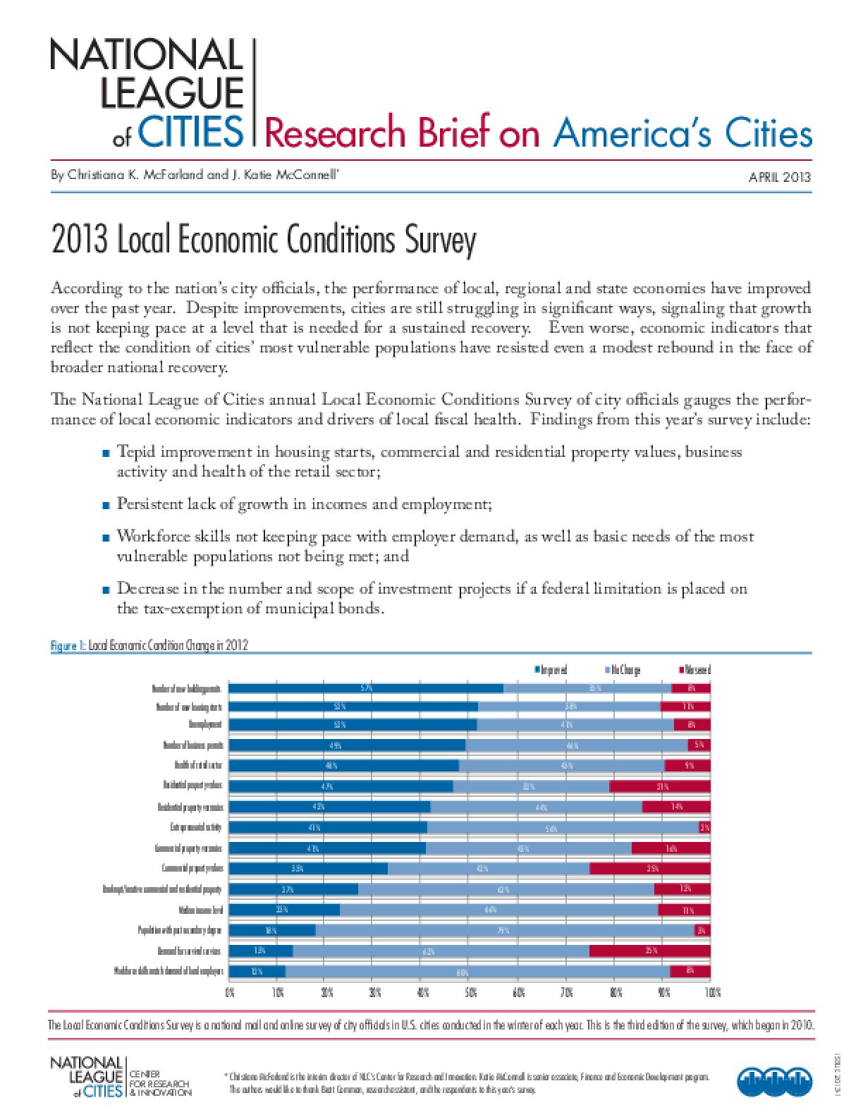 2013 Local Economic Conditions Survey