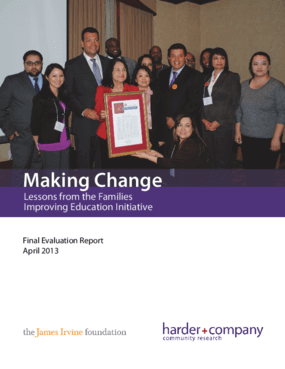 Making Change: Lessons from the Families Improving Education Initiative