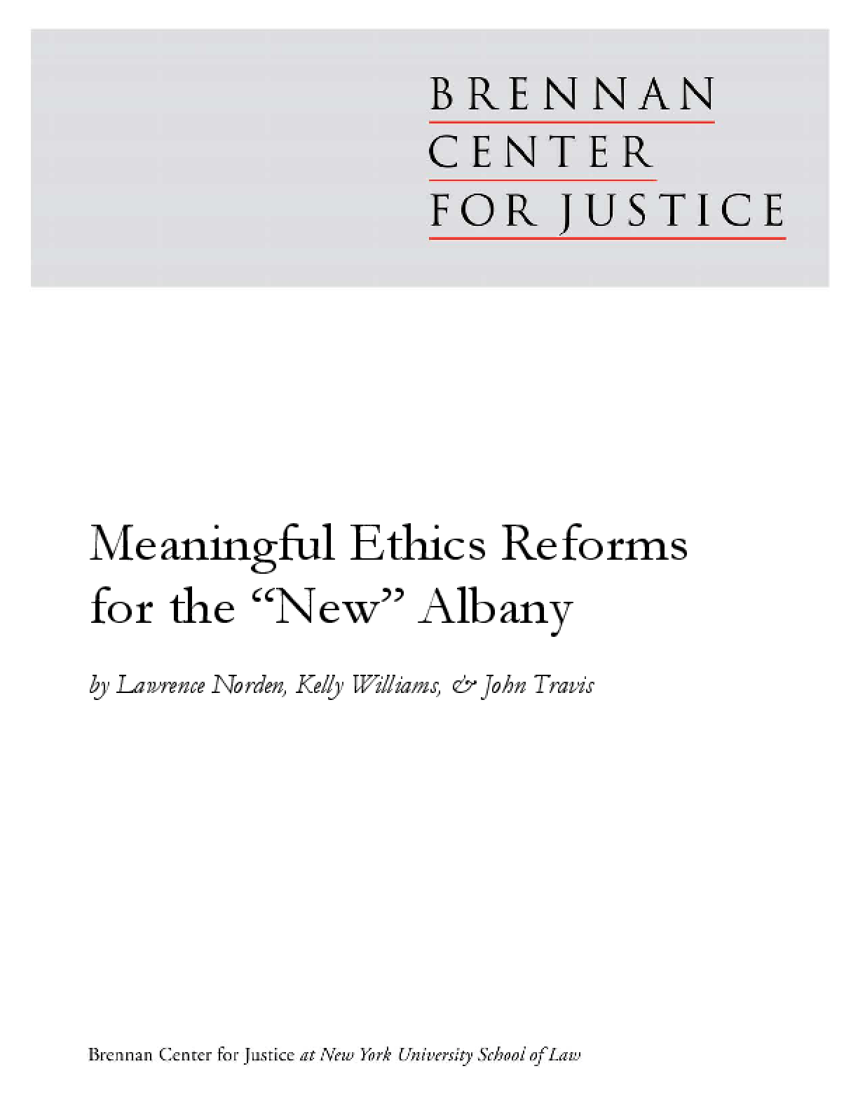 Meaningful Ethics Reforms for the New Albany
