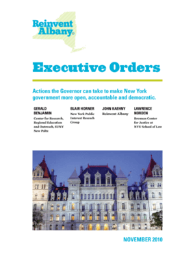 Executive Orders: Promoting Democracy and Openness in New York State Government