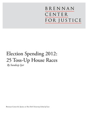 Election Spending 2012: 25 Toss-Up House Races