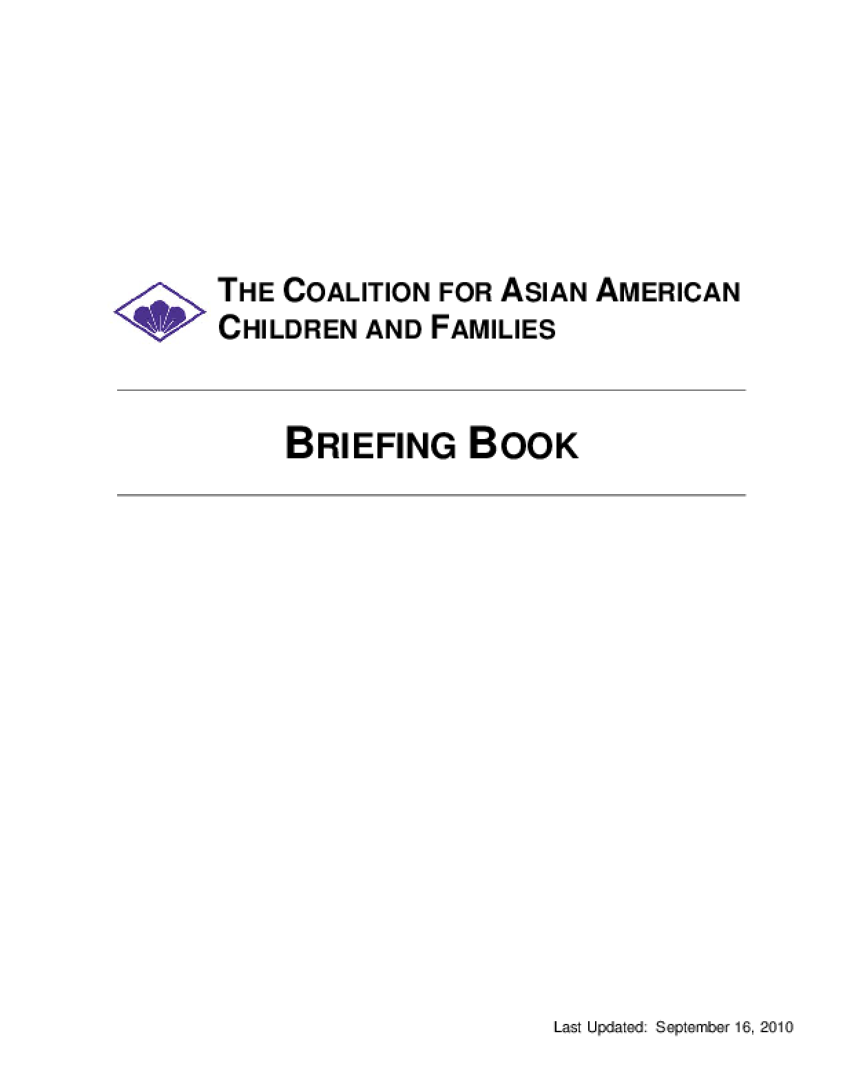 Briefing Book 2010