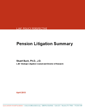 Pension Litigation Summary