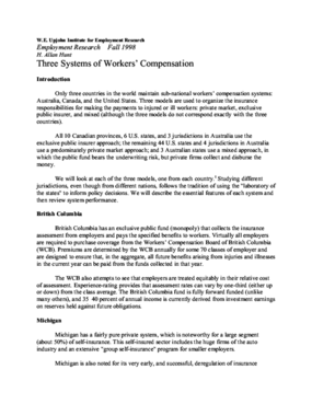 Three Systems of Workers' Compensation