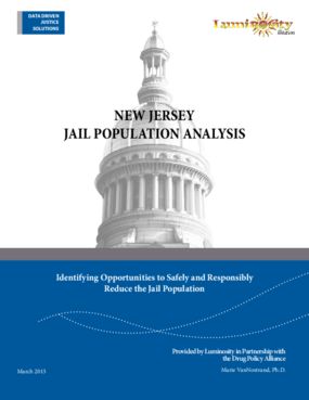 New Jersey Jail Population Analysis: Identifying Opportunities to Safely and Responsibly Reduce the Jail Population