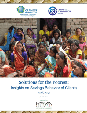 Solutions for the Poorest: Insights on Savings Behavior of Clients