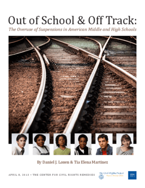 Out of School and Off Track: The Overuse of Suspensions in American Middle and High Schools