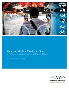 Catalyzing the New Mobility in Cities