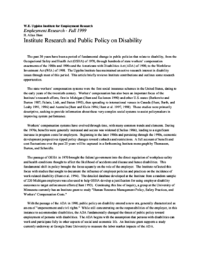Institute Research and Public Policy on Disability