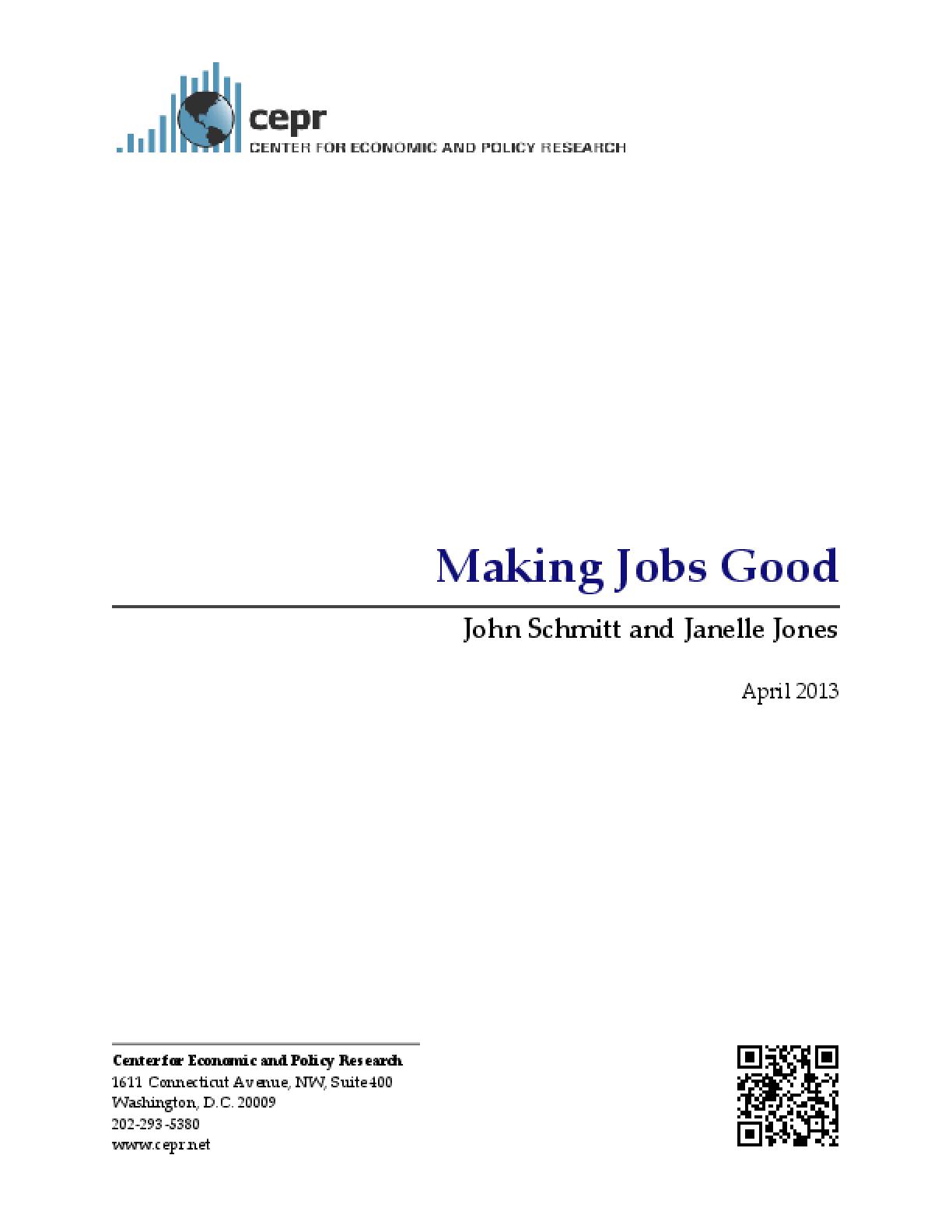 Making Jobs Good