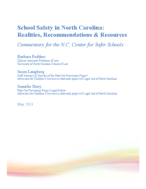 School Safety in North Carolina: Realities, Recommendations & Resources