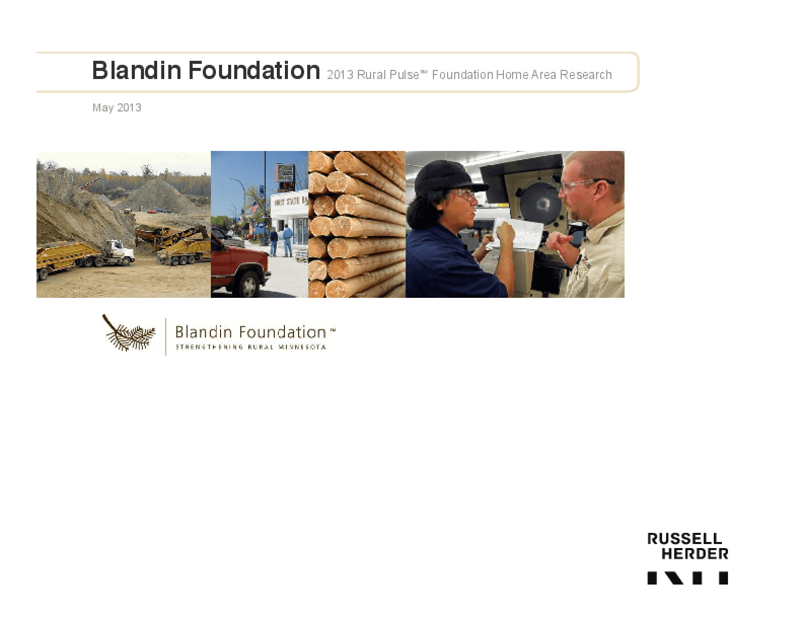 2013 Rural Pulse: Foundation Home Area Research