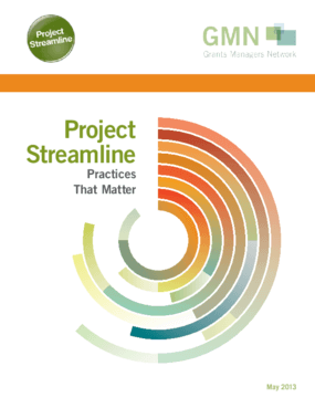 Project Streamline: Practices That Matter