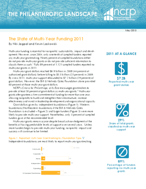 The State of Multi-Year Funding 2011