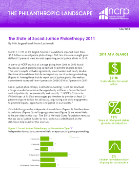 The State of Social Justice Philanthropy 2011