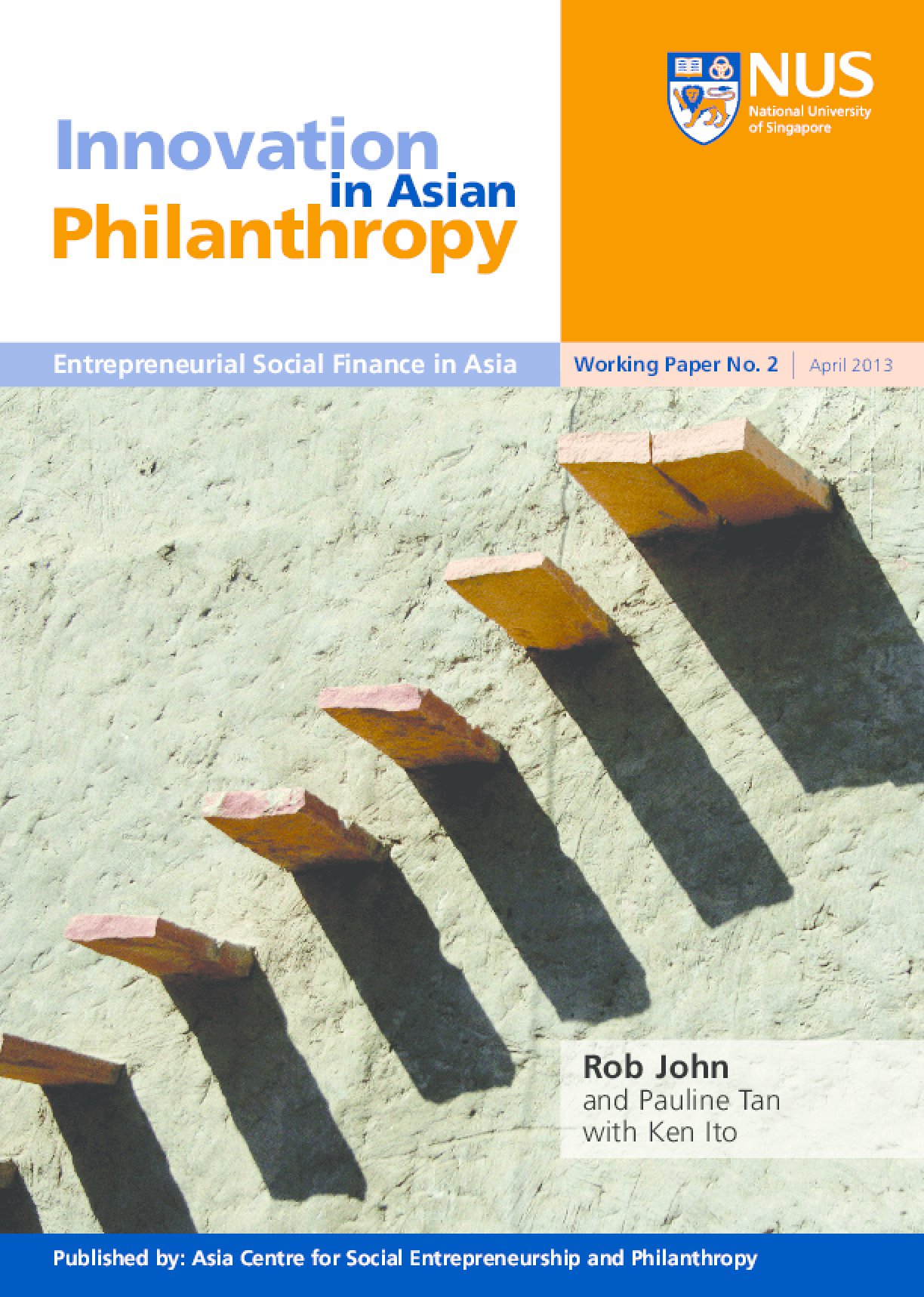 Innovation in Asian Philanthropy: Entrepreneurial Social Finance in Asia