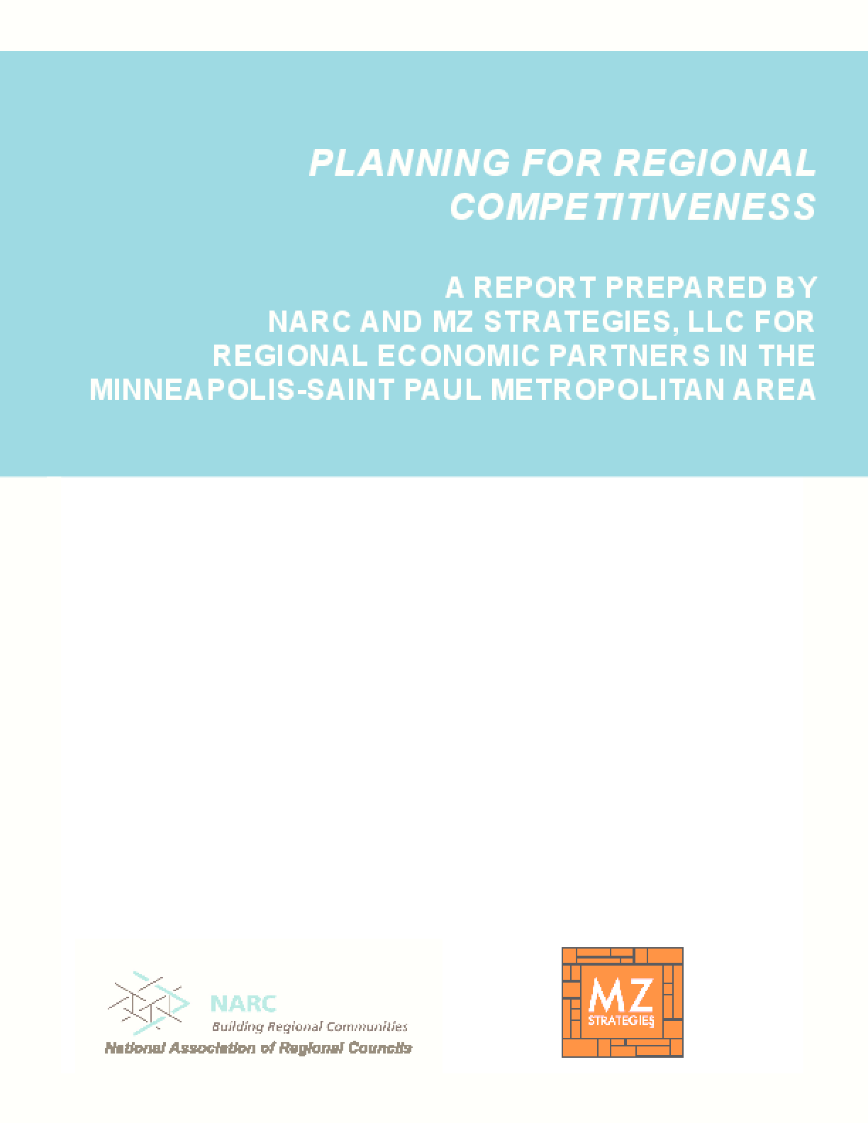 Planning for Regional Competitiveness