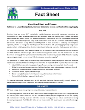 Fact Sheet: Combined Heat and Power