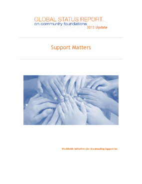 Global Status Report on Community Foundations - 2012 Update