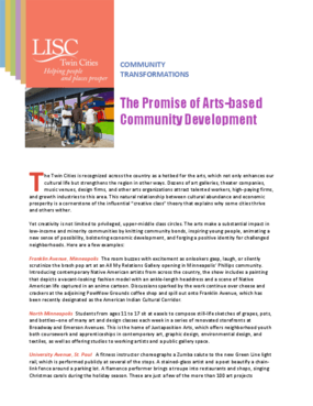 Community Transformations: The Promise of Arts-Based Community Development