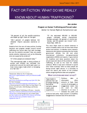 Fact or Fiction: What Do We Really Know About Human Trafficking?