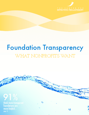 Foundation Transparency: What Nonprofits Want