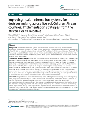 Improving Health Information Systems for Decision Making Across Five sub-Saharan African Countries: Implementation Strategies from the African Health Initiative