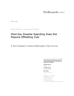 Most Say Disaster Spending Does Not Require Offsetting Cuts: A Pew Research Center/Washington Post Survey