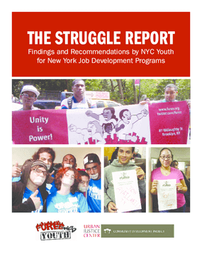 The Struggle Report: Findings and Recommendations by NYC Youth for New York Job Development Programs