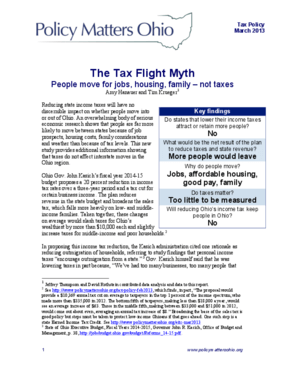 The Tax Flight Myth: People Move for Jobs, Housing, Family - Not Taxes