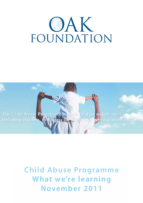 Child Abuse Programme: What We're Learning November 2011