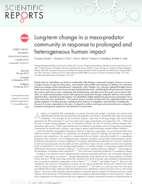 Long-Term Change in a Meso-Predator Community in Response to Prolonged and Heterogeneous Human Impact