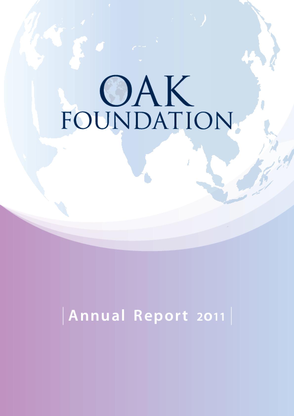 Oak Foundation Annual Report 2011