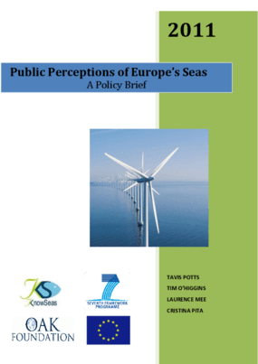 Public Perceptions of Europe's Seas: A Policy Brief