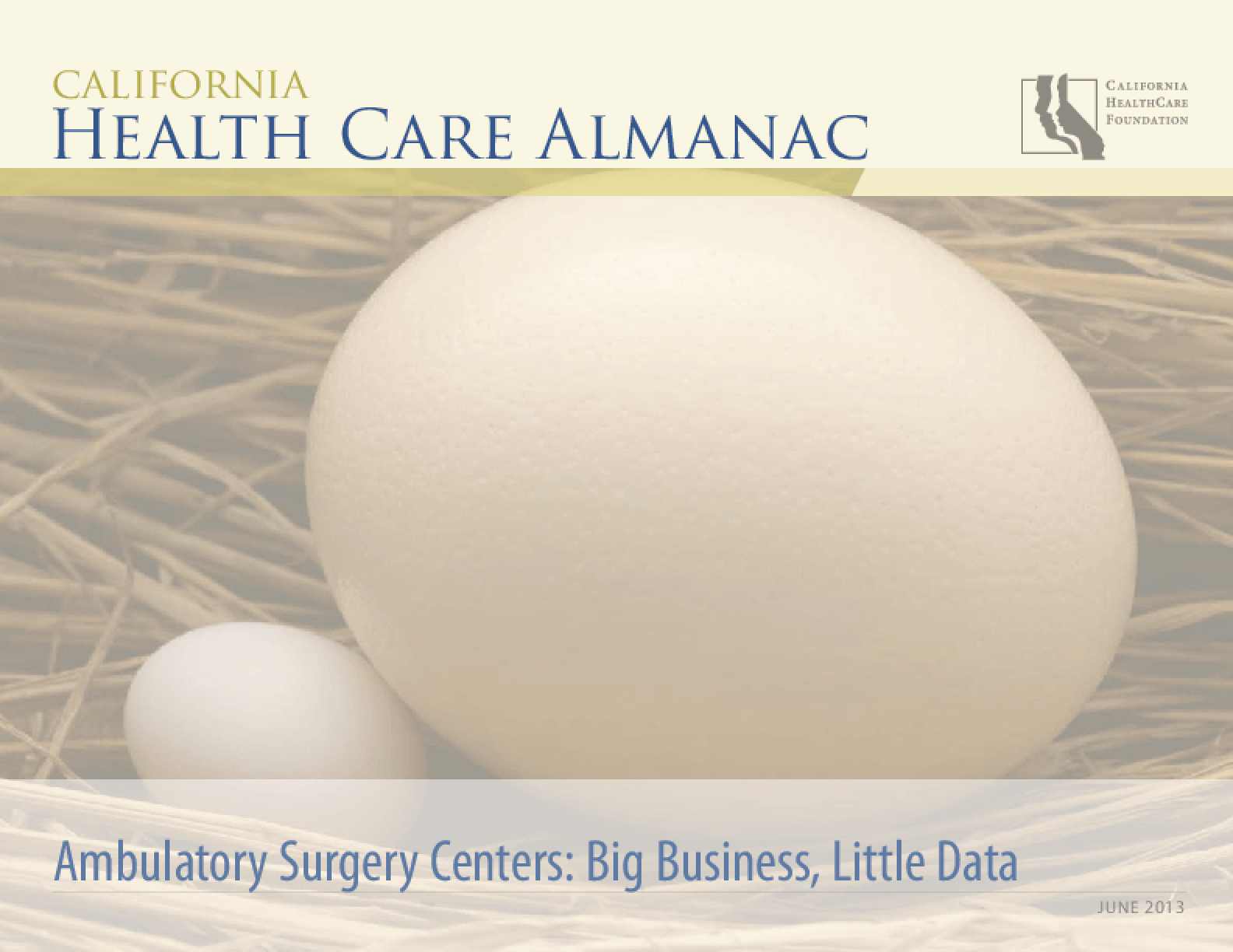 Ambulatory Surgery Centers: Big Business, Little Data