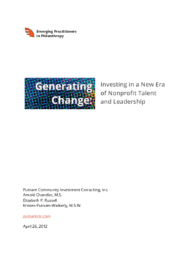 Generating Change: Investing in a New Era of Nonprofit Talent and Leadership