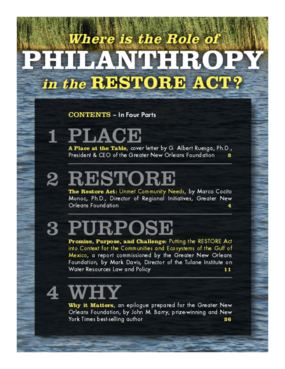 Where is the Role of Philanthropy in the RESTORE Act?