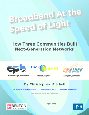 Broadband at the Speed of Light: How Three Communities Built Next-Generation Networks