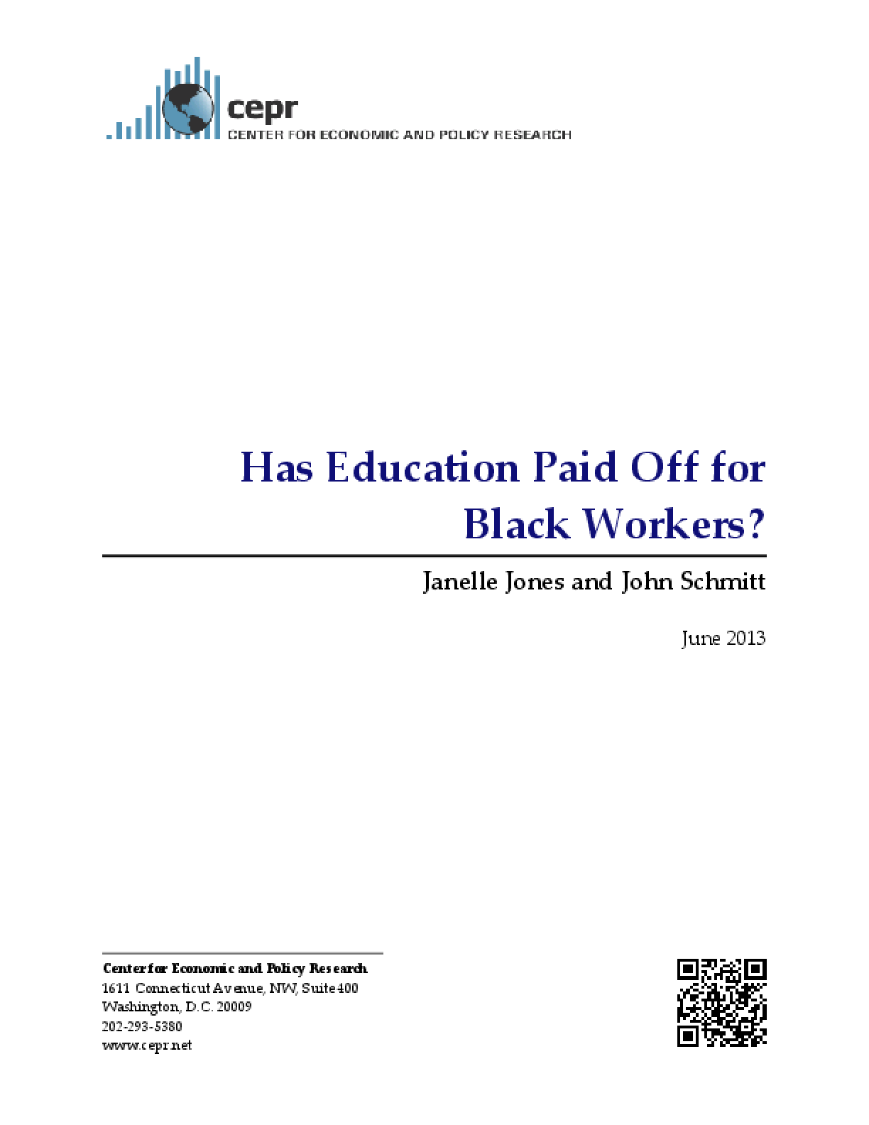 Has Education Paid Off for Black Workers?