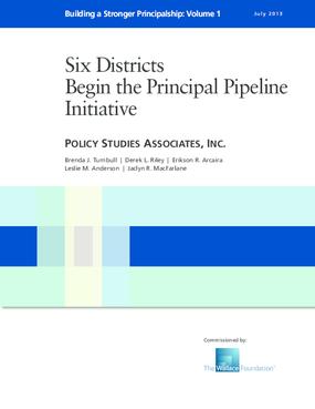 Six Districts Begin the Principal Pipeline Initiative