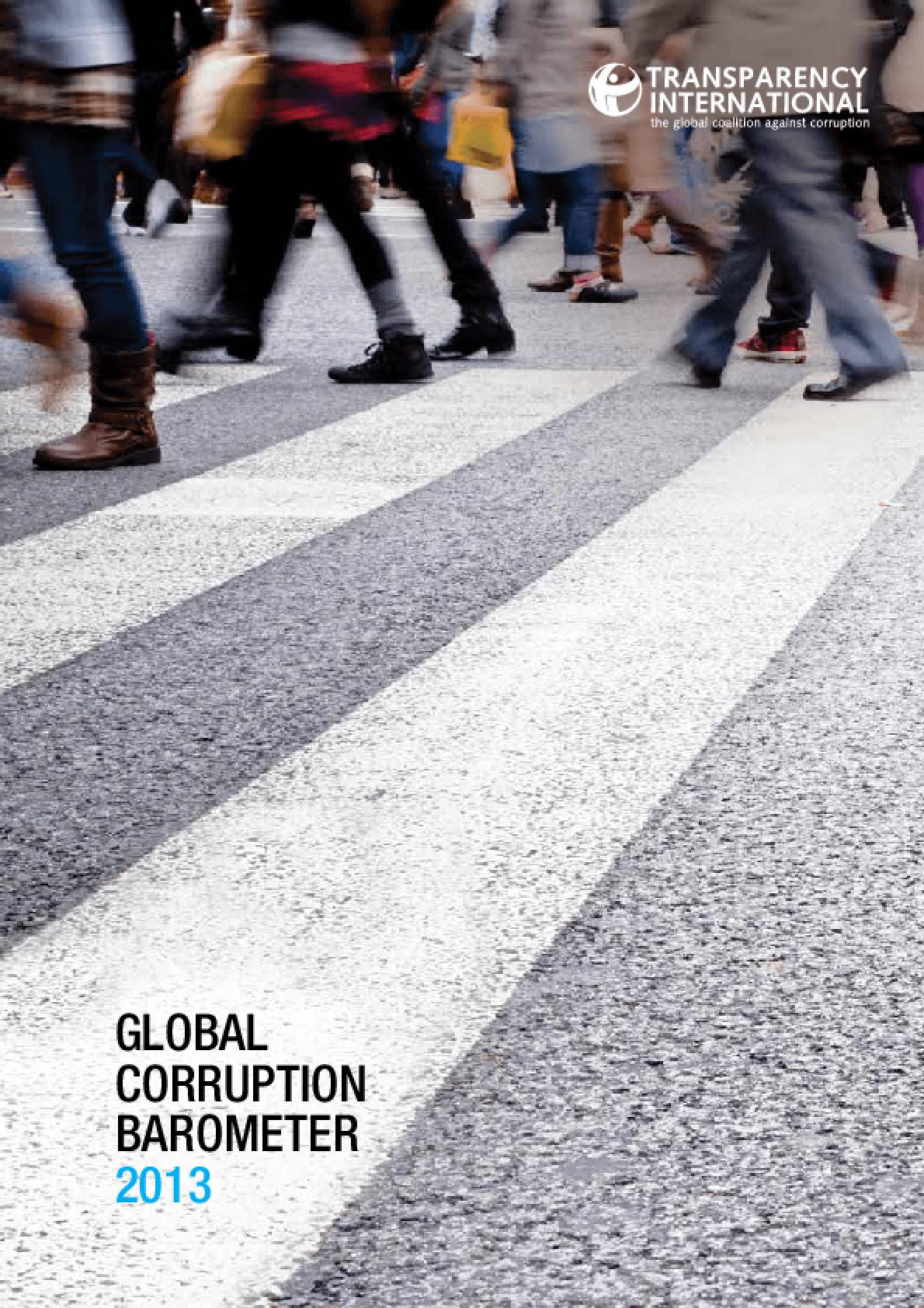 Global Corruption Barometer 2013