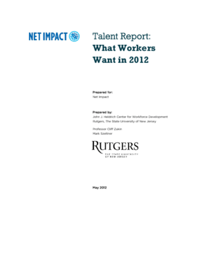 Talent Report: What Workers Want in 2012