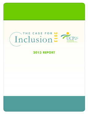 The Case for Inclusion 2013 Report
