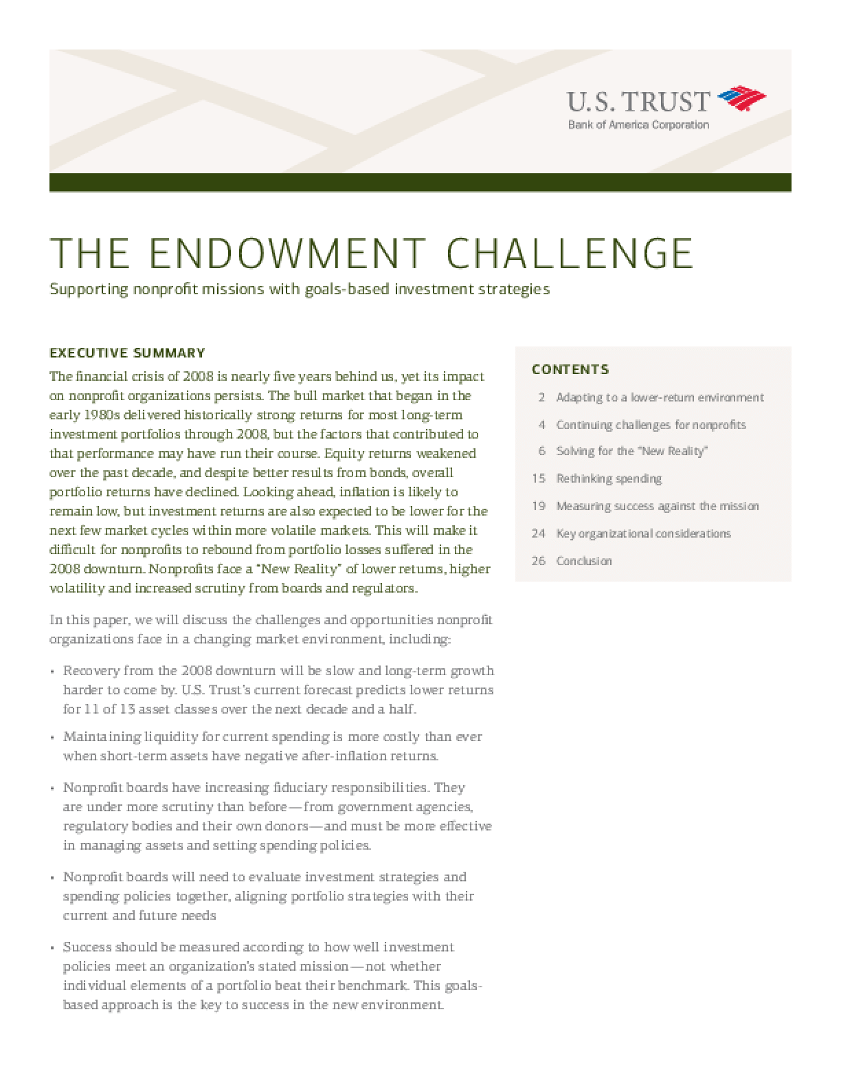 The Endowment Challenge