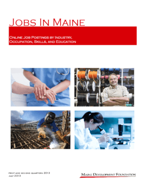 Jobs In Maine: Online Job Postings by Industry, Occupation, Skills, and Education