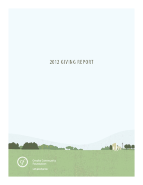 Omaha Community Foundation 2012 Giving Report