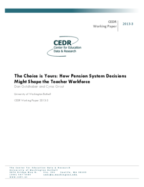The Choice is Yours: How Pension System Decisions Might Shape the Teacher Workforce