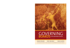 Governing Boards in the Non-Profit Sector