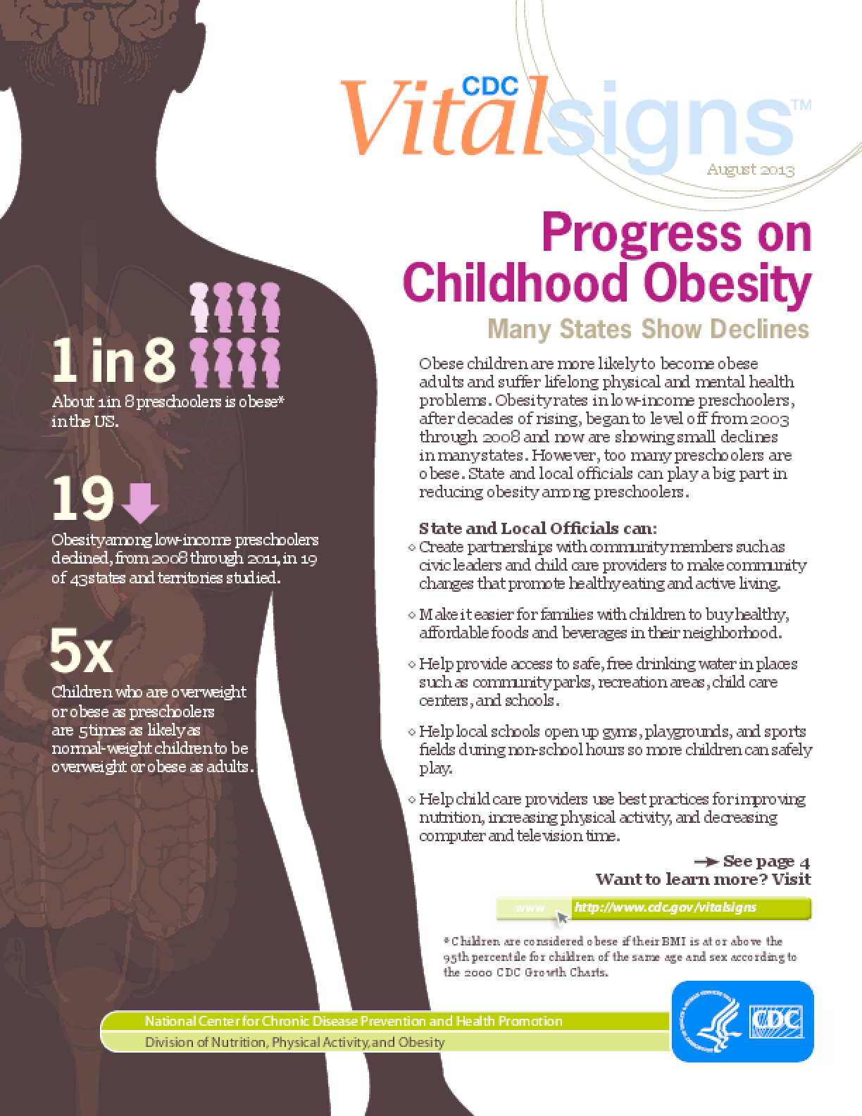 Progress on Childhood Obesity: Many States Show Declines